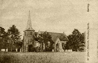 Old Postcard of Blindley Heath Church