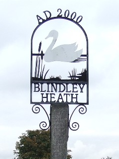Photo of Blindley Heath sign