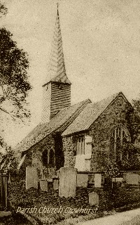 Old Postcard of Crowhurst Church