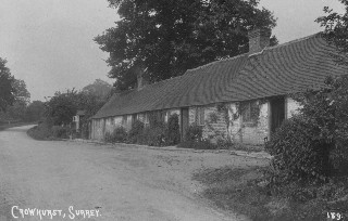 Old Postcard of Altar Cottages, Crowhurst