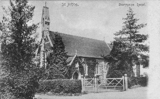 Old Postcard of Dormansland Church
