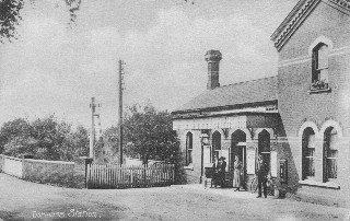 Old Postcard of Dormans Station