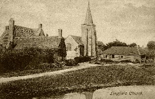Old Postcard of Lingfield Church