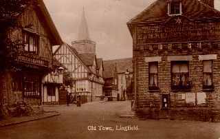 Old Postcard of Old Town, Lingfield