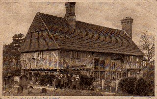 Old Postcard of Guest House, Lingfield